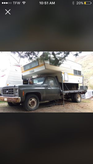 79 Chevy custom deluxe/with camper for Sale in Wenatchee, WA
