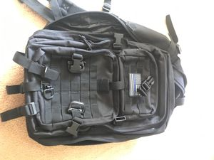 "Military style backpack. Used once. Has a hydration compartment. Space for a 15"" laptop or bigger. Lots of storage space. for Sale in Hayward, CA"