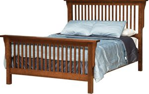 Solid oak mission style queen size bed frame for Sale in Issaquah, WA