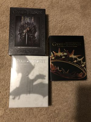 Game of Thrones Seasons 1-3 for Sale in Woodinville, WA