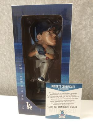 2019 Los Angeles Dodgers Official SGA Autograph Walker Buehler Bobblehead c.o.a By Beckett for Sale in Orange, CA