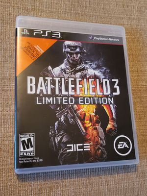 Battlefield 3 -- Limited Edition (Sony PlayStation 3, 2011) Game includes the instruction manual for Sale in Chambersburg, PA