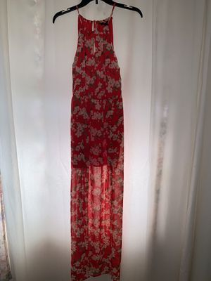FOREVER21 RED FLORAL DRESS SIZE M for Sale in Alhambra, CA