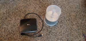 LG Slim Portable DVD Writer GP40NB40 & CDS for Sale in Portland, OR