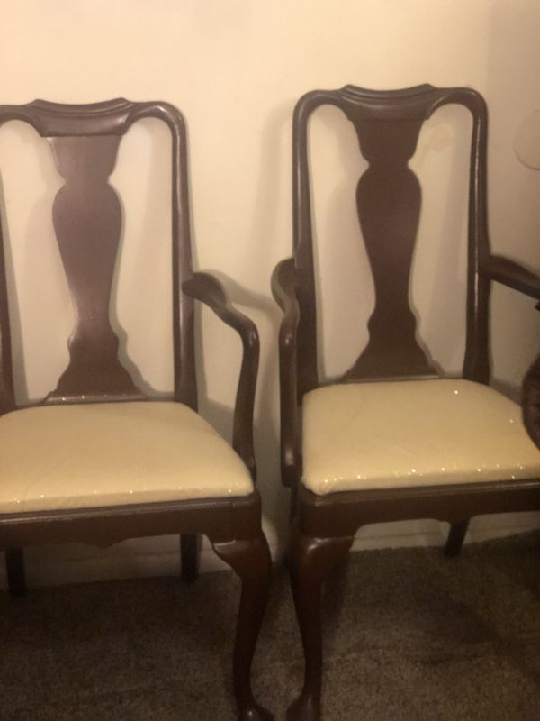 Set of Queen Anne captains chairs
