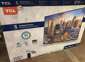 """65"""" TCL Roku smart 4k hdr hd led tv for Sale in Norwalk, CA"""
