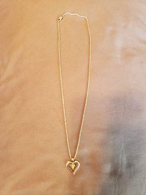 14K White gold robe chain w/diamond hearts for Sale in Bell Gardens, CA