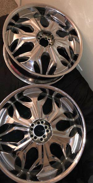24 inch chrome rims for Sale in Austin, TX