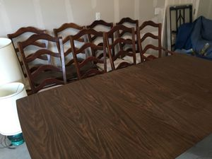 Formal Dining Table with eight chairs for Sale in Anchorage, AK