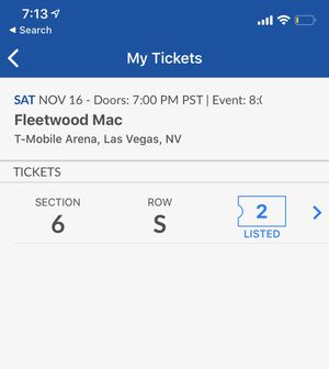 Fleetwood Mac tickets LAS VEGAS 2019 for Sale in Las Vegas, NV