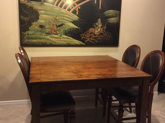 Dining Table w/leaf & 4 Chairs Counter Height for Sale in Zephyrhills,  FL