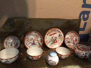 Vintage/Antique fine China with oriental scene for Sale in Vancouver, WA