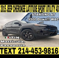 2015 JEEP CHEROKEE LATITUDE SPORT UTILITY 4D for Sale in Fort Worth,  TX