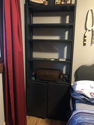 5-shelf Bookshelf with built in storage space for Sale in Denver, CO