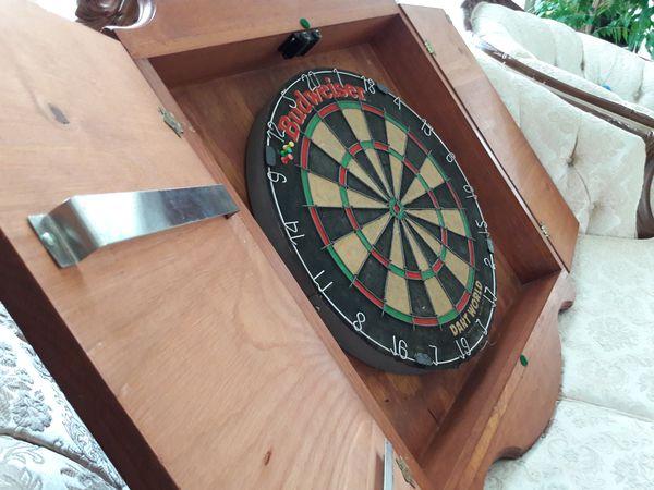 Dartworld pub man cave dartboard budweiser