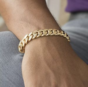 """Mens Cuban Link Chain Bracelet 18k Gold Plated Stainless Steel 7mm 6""""-11"""" for Sale in Orland Hills, IL"""
