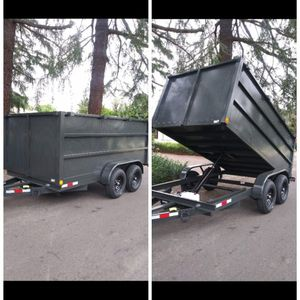 BRAND NEW DUMP TRAILER 8X12X4 12000 LBS I HAVE TITLE IN HAND FOR ANY QUESTION TEXT ME PLEASE. for Sale in Los Angeles, CA