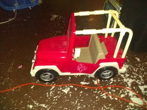 Large doll pink Jeep good shape for Sale in Palm Harbor, FL