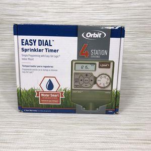 Orbit 4-Station Indoor Easy Dial Sprinkler Timer, New in Open Box for Sale in Sacramento, CA