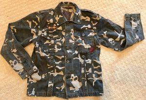 Indigo Star camouflage camo military army jacket boys size 8 for Sale in Marysville, WA