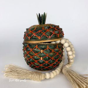 Vintage Pineapple woven Basket storage box for Sale in Garner, NC