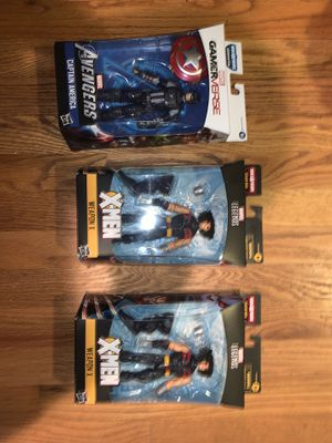 Marvel action figures (capt ameica ) wolverine brand new for Sale in Seattle, WA