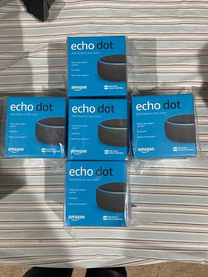 2 remaining out of 5 - Brand New Sealed Pack Echo Dots $22 each for Sale in Germantown, MD
