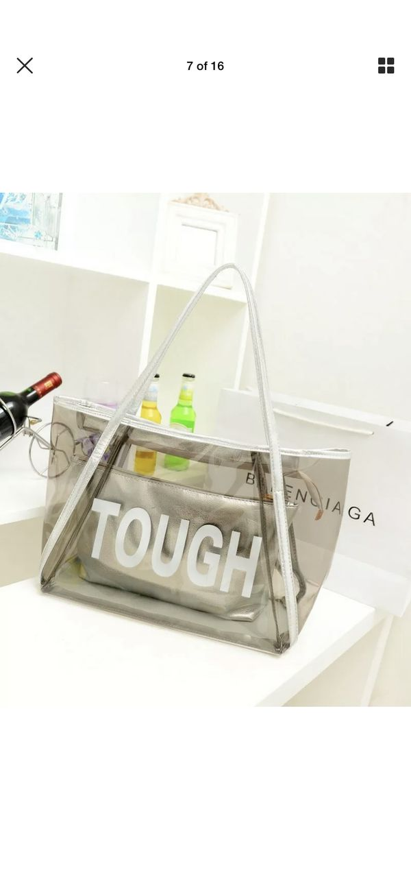 Women Luxury Transparent Handbag Clear Jelly Purse Clutch Tote