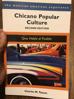 Chicano popular culture 2nd edition (by: Charles M. Tatum) for Sale in Montebello, CA