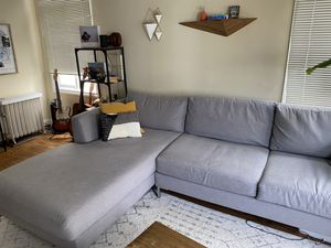 Couch for sale, sectional, gray, 2 years old for Sale in San Francisco, CA