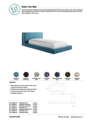 """2 Blu Dot Dodu Twin Bed in """"Aqua"""" for Sale in Miami Beach, FL"""