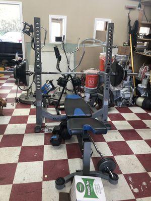 exercise equipment with weights banca para hacer ejercicio con todas las pesas que tiene la barra for Sale in Beaverton, OR