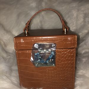 Cognac Colored Croc Handbag for Sale in Newport News, VA