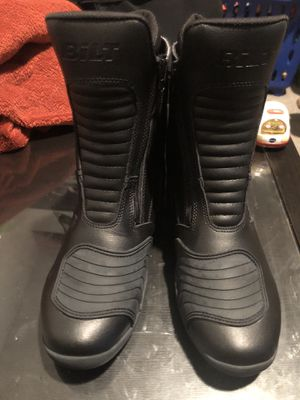 Bolt motorcycle boots size 7 w new for Sale in Los Angeles, CA