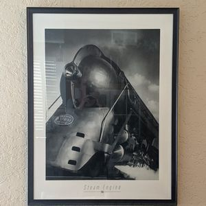 NEW YORK STEAM ENGINE TRAIN PICTURE PRINT WALL ART for Sale in Huntington Beach, CA