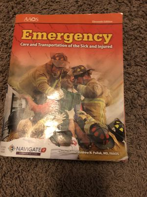 Emergency first responder text book for Sale in Mesa, AZ