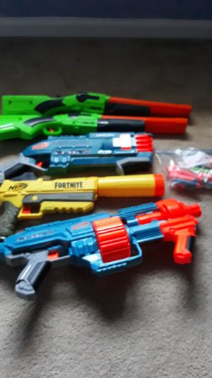 Nerf guns with some bullets very good for Sale in Cary, NC