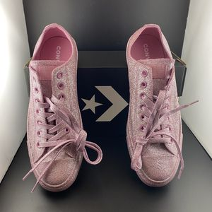 NEW Converse Chuck Taylor All Star Pink Glitter Sparkle Size 9 Mens 11 Womens Sneakers for Sale in Scottsdale, AZ