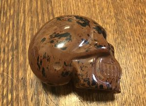 Skull - hand carved Red obsidian for Sale in Colorado Springs, CO