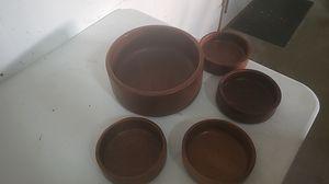 Vintage teak salad bowls for Sale in Cocoa, FL