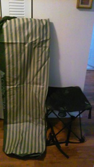 ozark trail air mattress and travel chair line for Sale in Tampa, FL