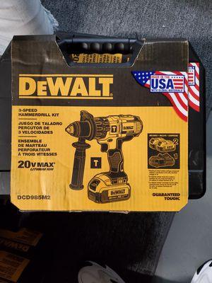 details. DeWalt DCD985M2 20V Max Premium 3-Speed Hammerdrill Kit (4 Ah) for Sale in Burlington, NJ