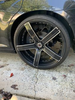 24 inch rims for sale 750 obo 3 good tires 1 needs replacing for Sale in Charlotte,  NC