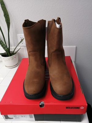 Brand new wolverine work boots for men. Size 11. Soft toe for Sale in Riverside, CA