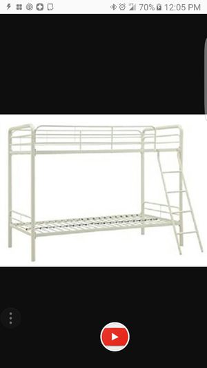 Twin beds bunk bed white for Sale in Brooklyn, NY