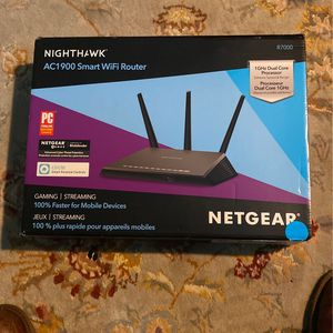 New Netgear Nighthawk AC1900 smart WiFi router for Sale in Las Vegas, NV