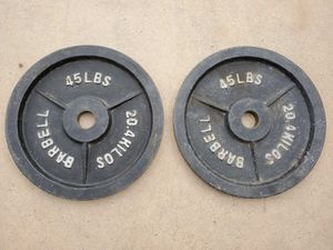 2x 45lb barbell weights for Sale in Chandler, AZ