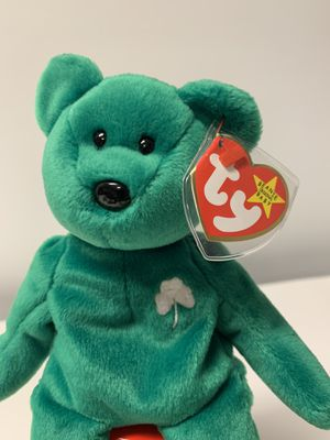 VERY RARE and Retired Ty Beanie Baby Erin the Bear DOB March 17, 1997 MWMT for Sale in Dalton, GA