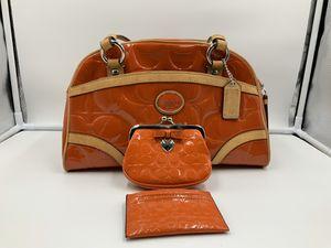Authentic Coach Orange Embossed Satchel for Sale in Fairfax, VA