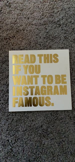 UO - Read This If You Want To Be Instagram Famous for Sale in Riverview, FL